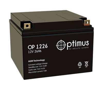 OP 1226 аккумулятор 26Ач 12В Optimus