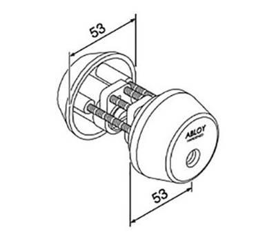 CY062U цилиндр ключ-ключ Abloy
