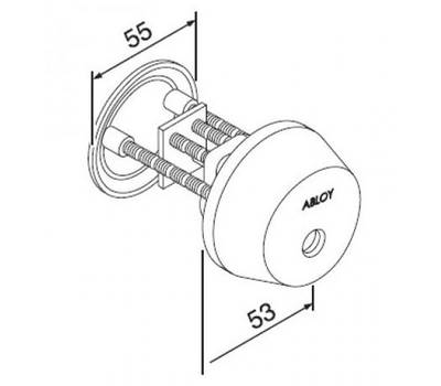 CY037T цилиндр ключ-заглушка Abloy