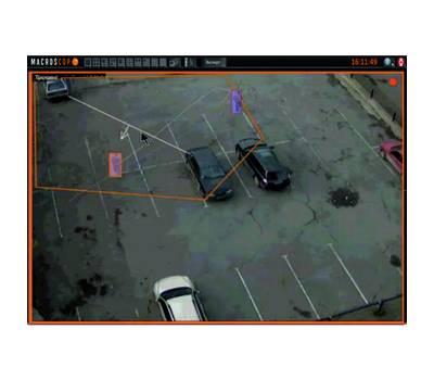 Модуль отслеживания движущихся объектов (трекинг) на 1 IP камеру